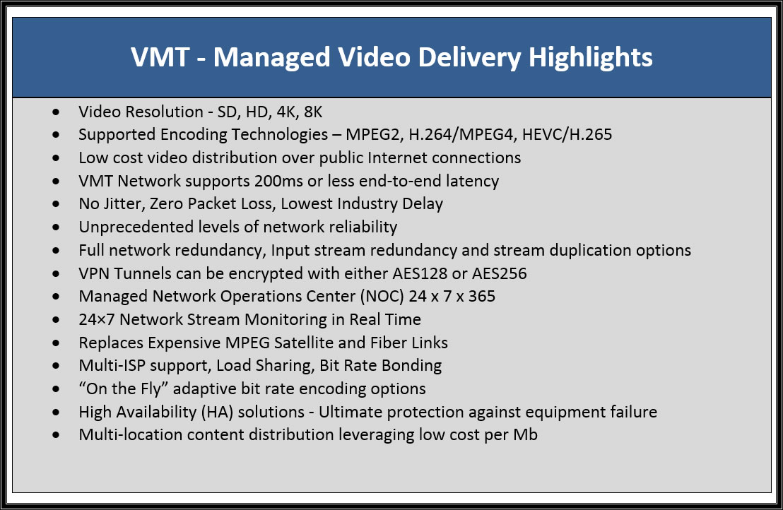vmt delivery platform